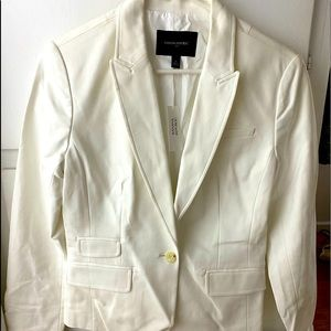 Sz 6 New Banana Republic White Blazer Jacket